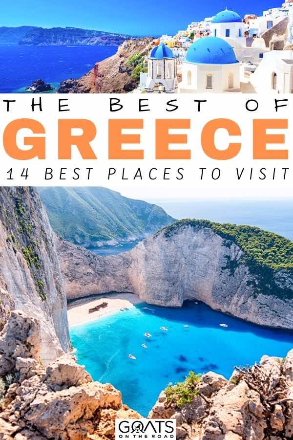 Zakynthos with text overlay the best of greece