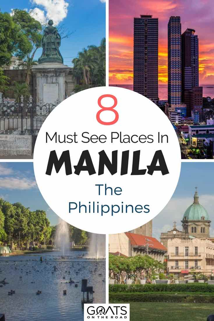 Buildings in Manila with text overlay 8 Must See Places in Manila The Philippines