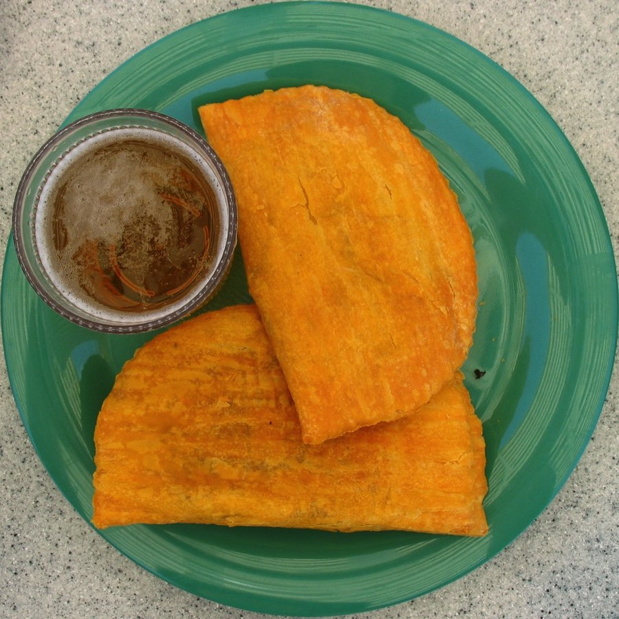 jamaican cuisine beef patties on a plate