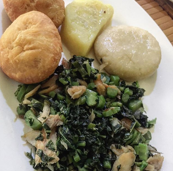 callaloo is a staple in jamaican cuisine