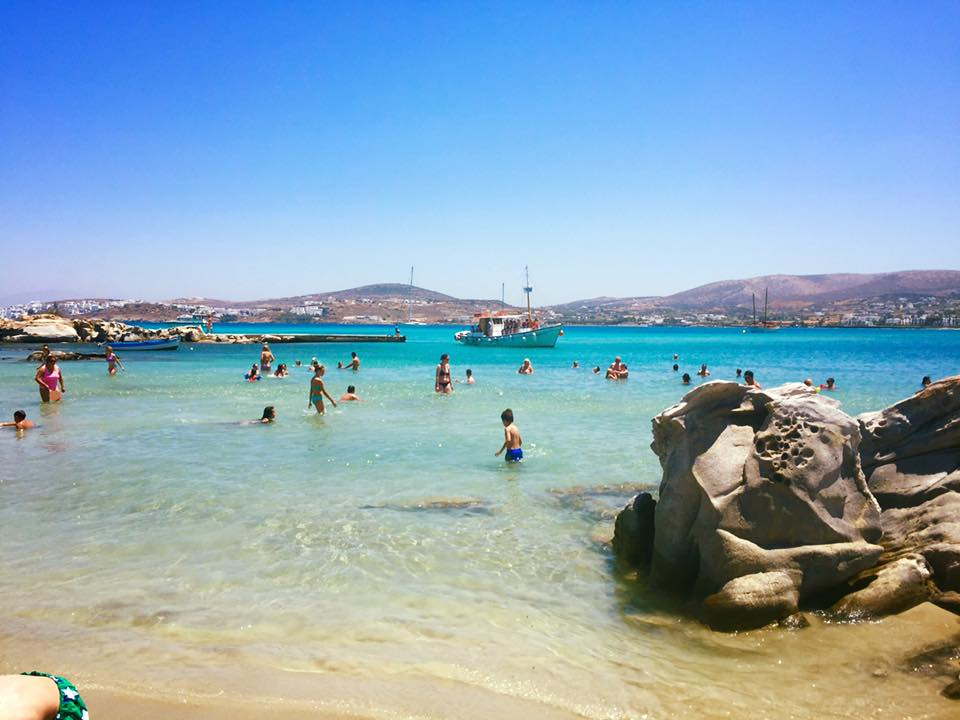 sunbathing at Kolimbithres beach is one of the best things to do in Paros