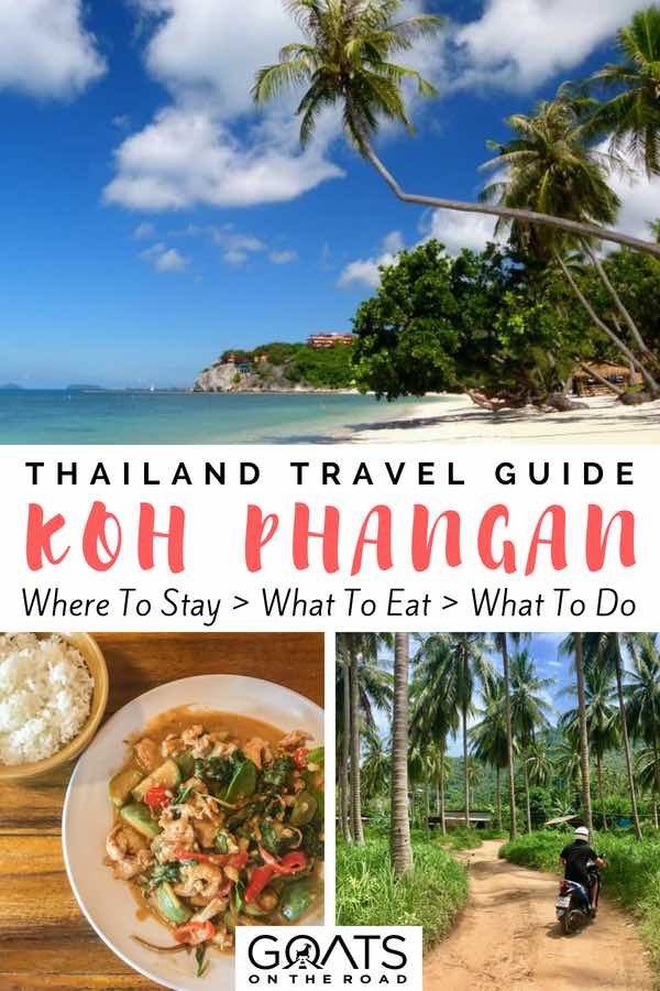 """Popular things to do in Koh Phangan with text overlay Thailand Travel Guide"
