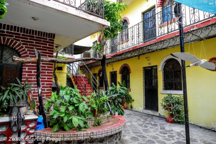 Colorful Courtyard, La Paz, Mexico