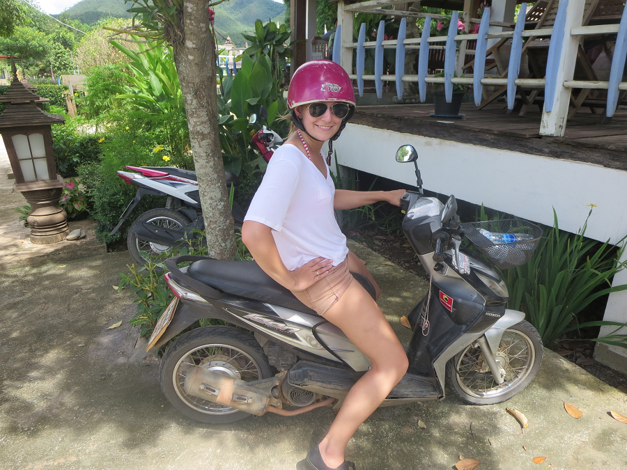 Learning to ride a scooter is one of the top things to do in pai