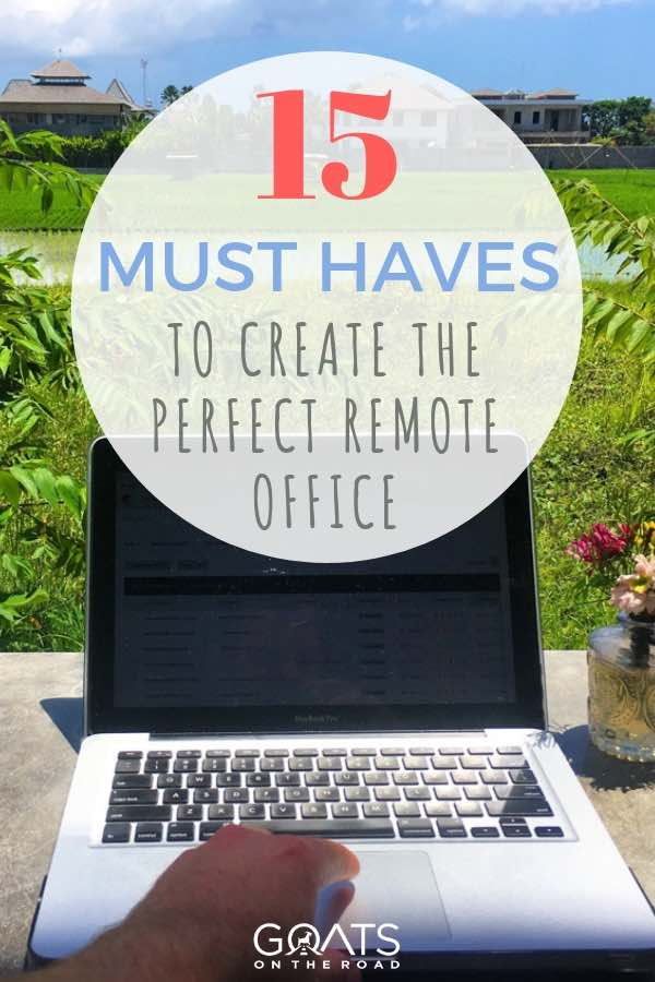 remote office with text overlay
