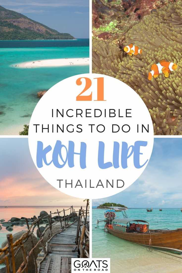 highlights of Koh Lipe with text overlay 21 incredible things to do in Koh lipe
