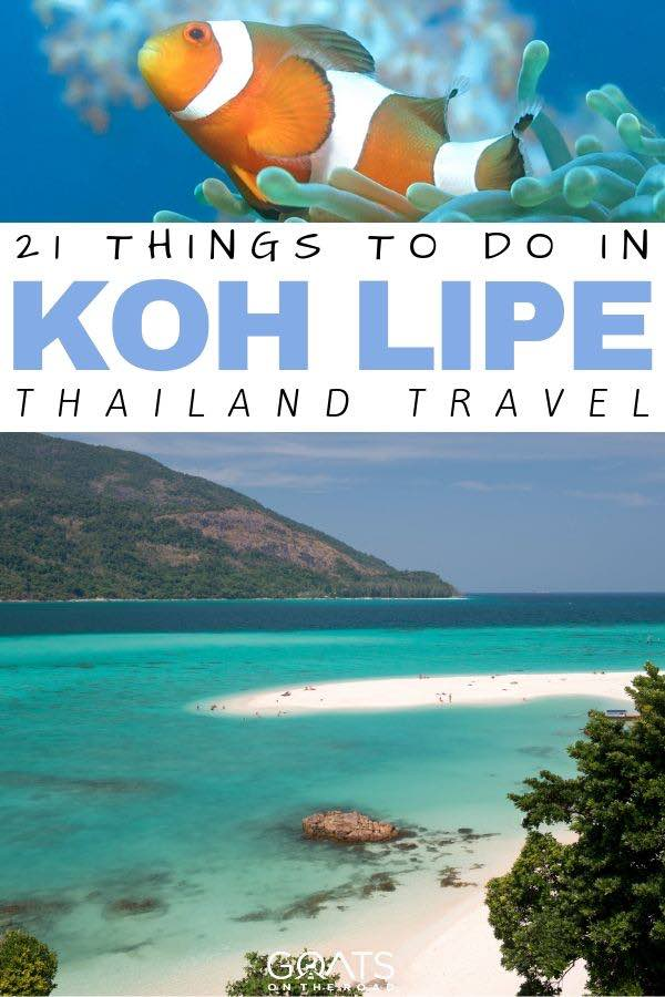 beautiful beach with text overlay 21 things to do in Koh Lipe thailand