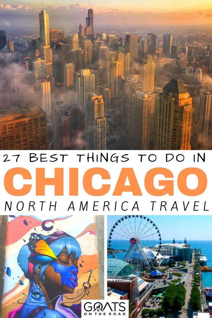Chicago skyline with text overlay 27 best things to do