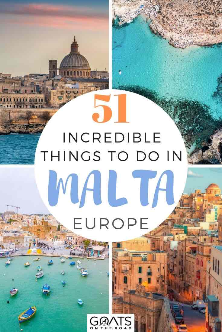highlights of Malta with text overlay 51 incredible things to do in Malta europe