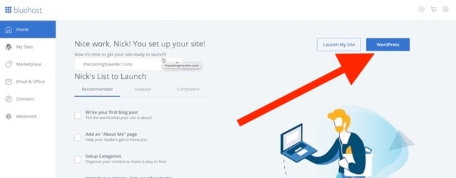 Login To WordPress Start a Blog Tutorial