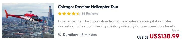 helicopter ride in chicago is one of the best things to do