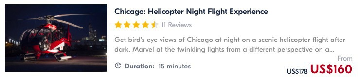 taking a helicopter in chicago