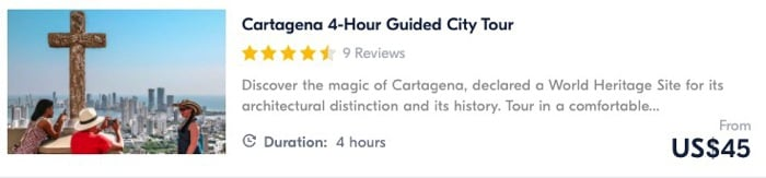 things to do in cartagena tour