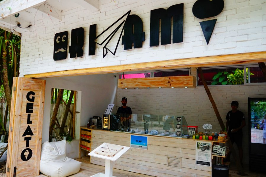 Gelato in Tulum at origami mexico