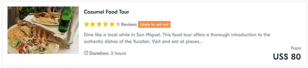 things to do in cozumel food tour