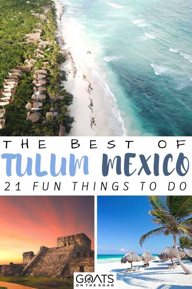 Tulum with text overlay the best of mexico