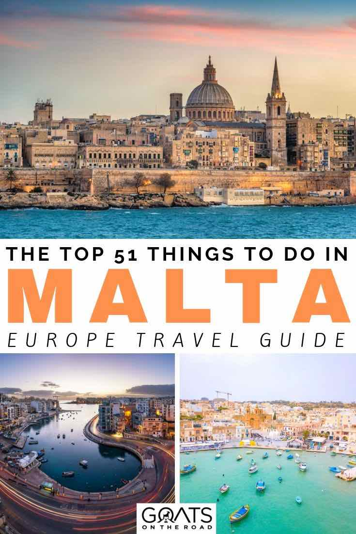 beautiful city with text overlay the top 51 things to do in Malta Europe travel guide