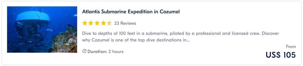 things to do in cozumel mexico submarine ride