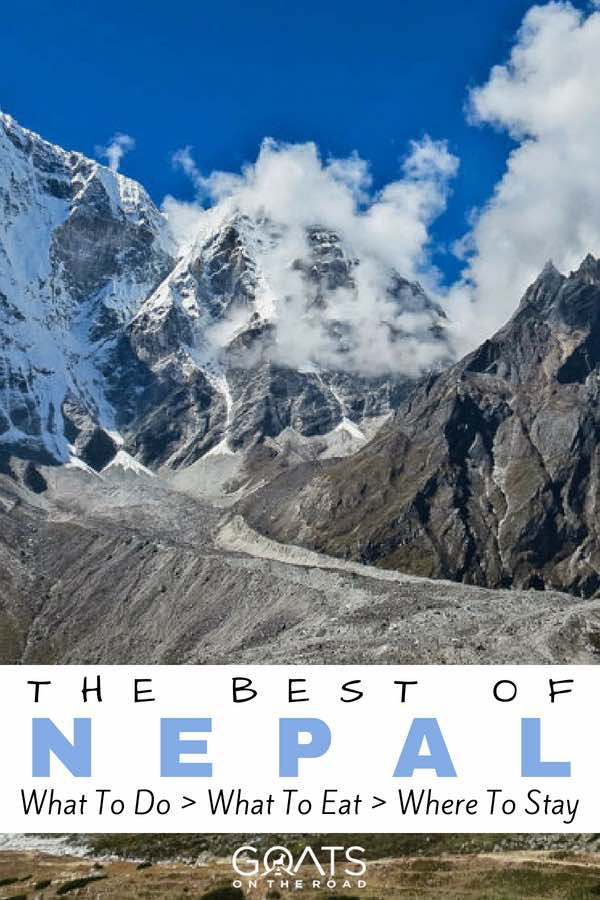 Mount Everest with text overlay The Best of Nepal