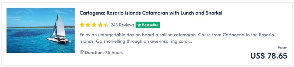 things to do in cartagena go sailing