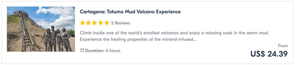 things to do in cartagena volcano mud