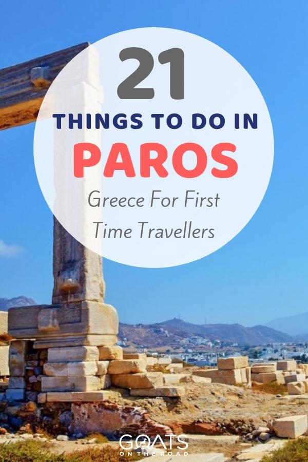 Naxos Greece with text overlay 21 Things To Do In Paros Greece