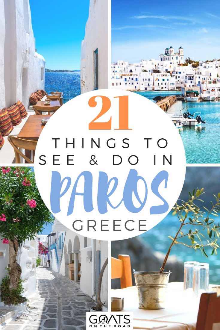 highlights of Paros with text overlay 21 things to see and do