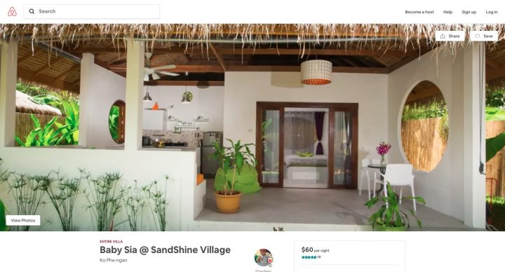 Airbnb Villa Koh Phangan