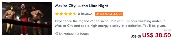 book a tour for lucha libre in mexico city
