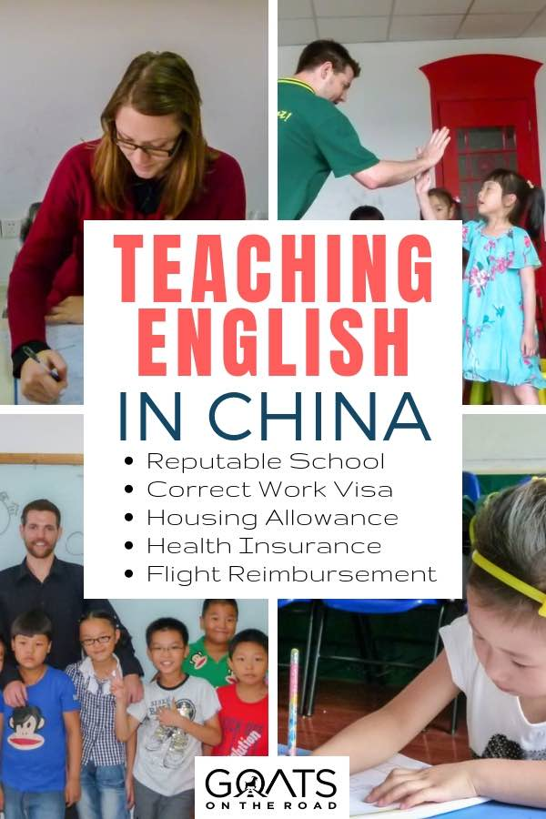English immersion classes with text overlay Teaching English In China