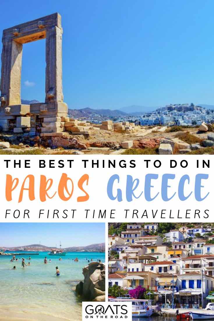 historic ruins with text overlay the best things to do in paros greece