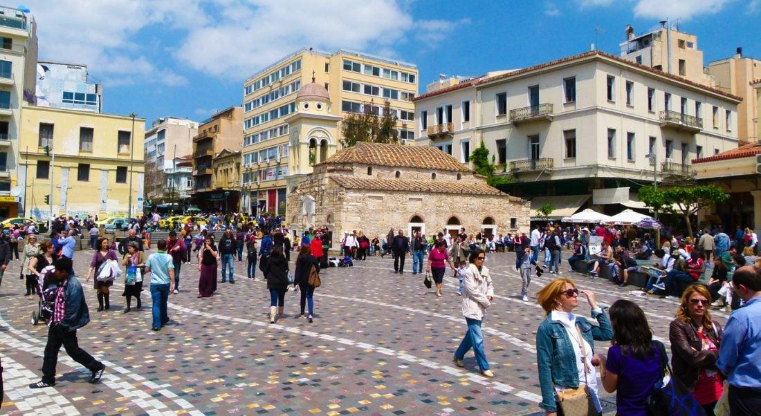 things to do in greece visit monastiraki square