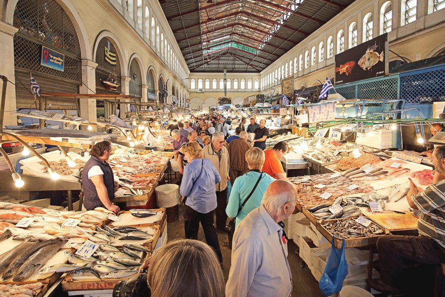 visit the athens central market