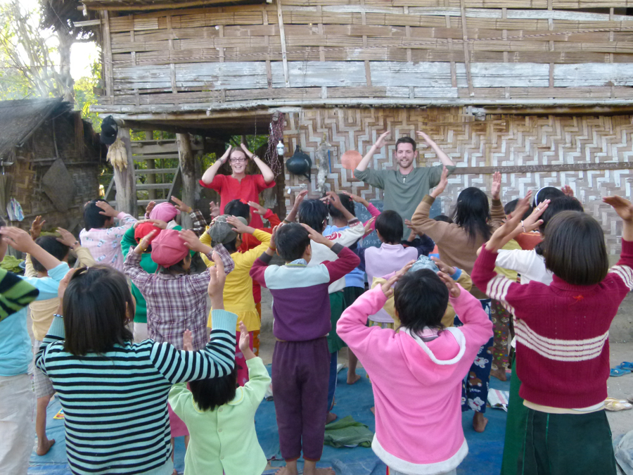 volunteering your time is a good way to be a responsible traveller. teaching english in myanmar