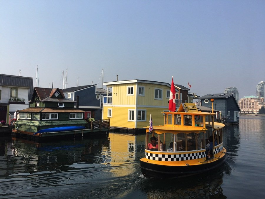 travel to victoria take a yellow taxi boat