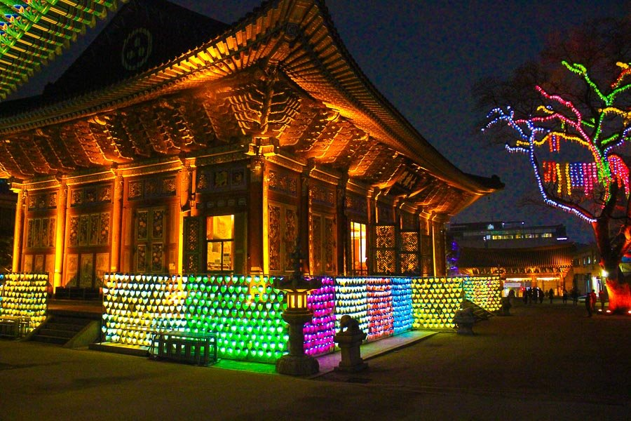 Jogyesa Temple in one of the top places to visit in Seoul