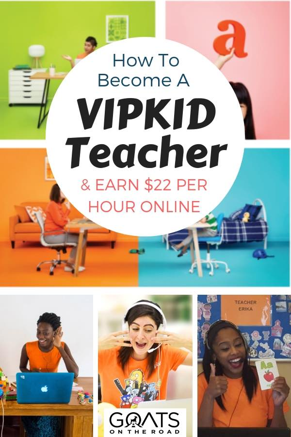 English Teachers Working Online with text overlay How To Become A VIPKID Teacher & Earn $22 Per Hour Online