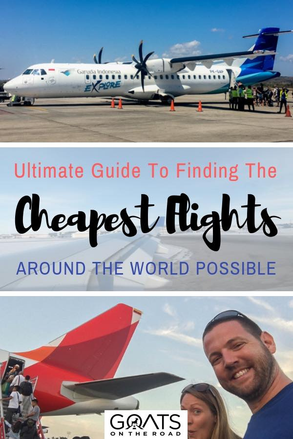 Boarding planes with text overlay Ultimate Guide To Finding The Cheapest Flights Around The World Possible