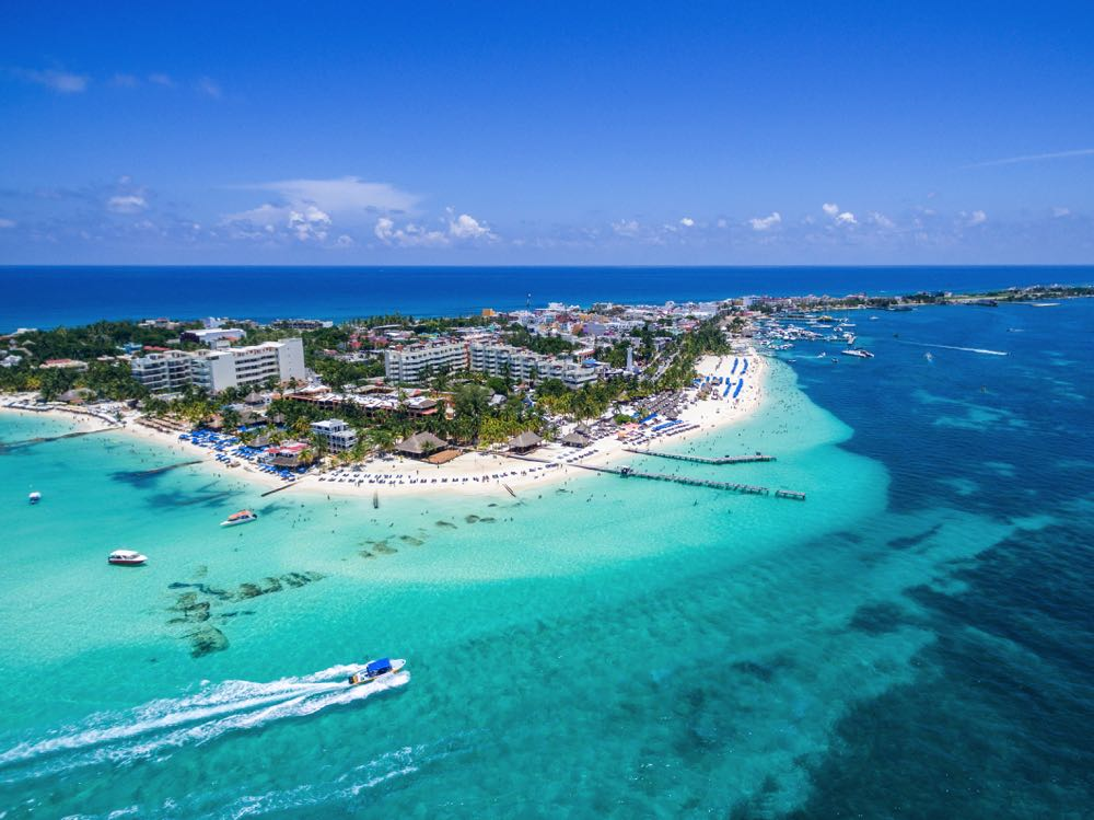 visiting playa norte beach is one of the top things to do in isla mujeres