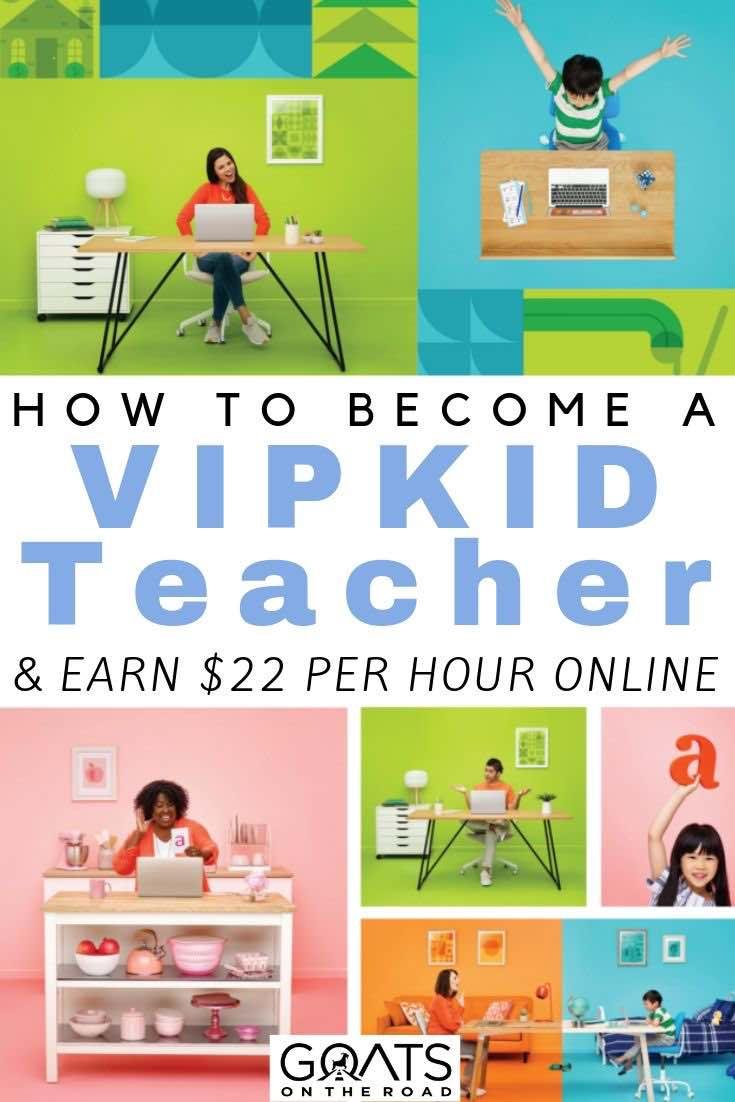 online teachers with text overlay how to become a VIPKID teacher