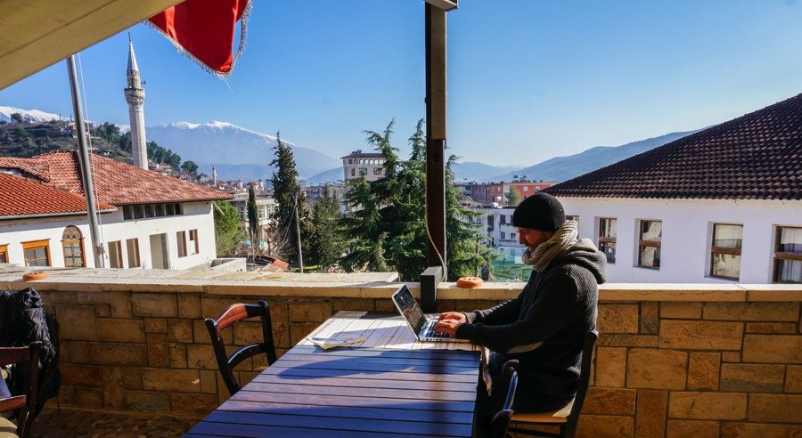 tips to enjoy the nomad life. working from a guest house in albania