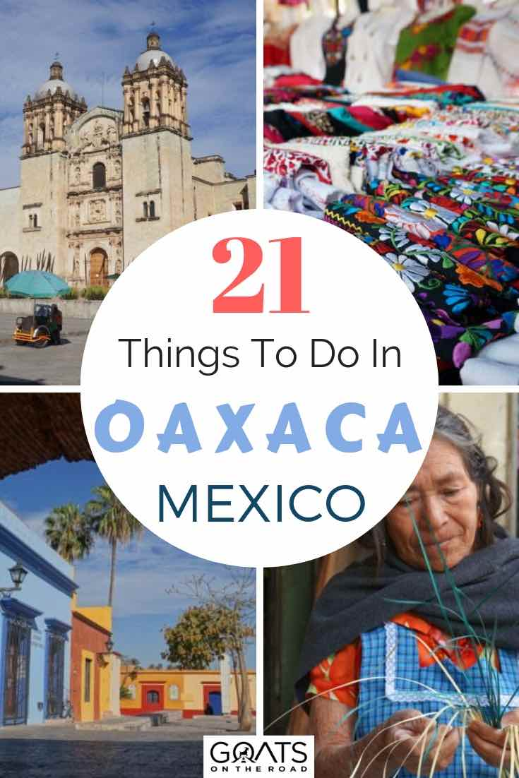 sites in oaxaca city mexico with text overlay