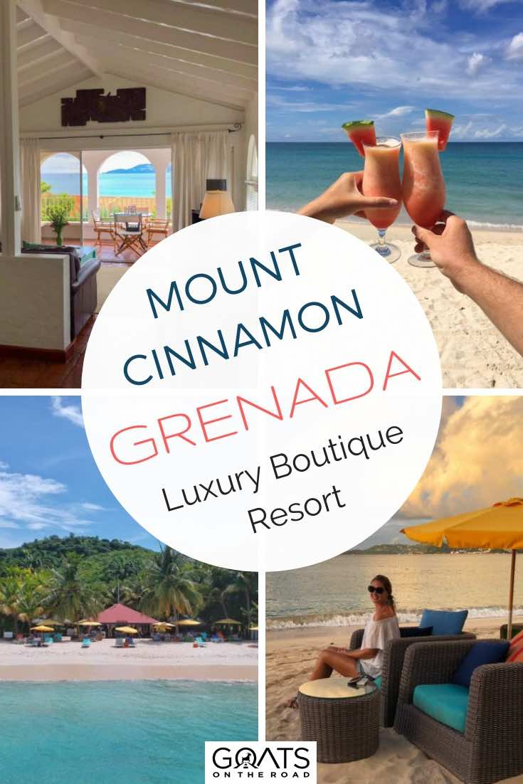 Mount Cinnamon Boutique Resort In Grenada with Text Overlay