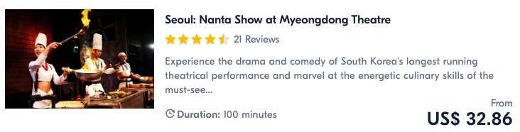 best places to visit in seoul see the nanta show