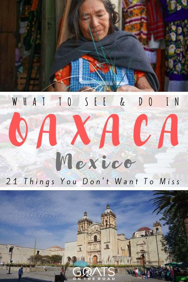 oaxaca city in mexico with text overlay