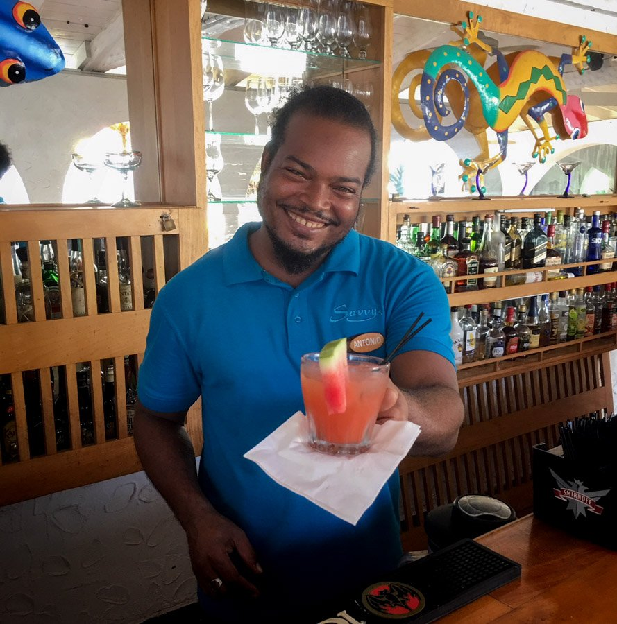 rum punch at mount cinnamon grenada
