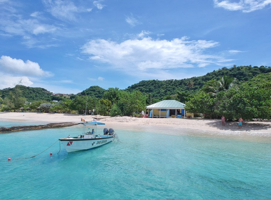 mount cinnamon grenada and dive grenada on grand anse beach