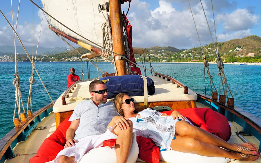 sailing with savvy one of the things to do at mount cinnamon grenada