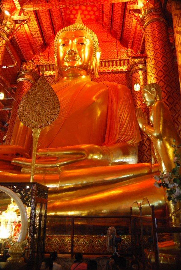 Ayutthaya historical park Gold Buddha