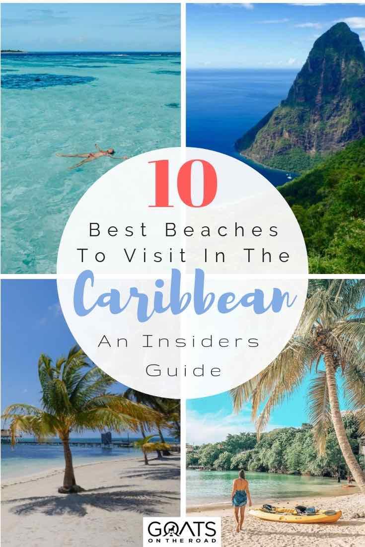 Caribbean beaches with text overlay